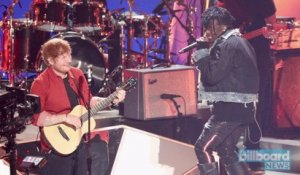 Lil Uzi Vert Joins Ed Sheeran On Stage During 'Shape of You' Performance at 2017 VMAs | Billboard News