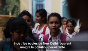 Inde: les écoles de New Delhi rouvrent malgré la pollution