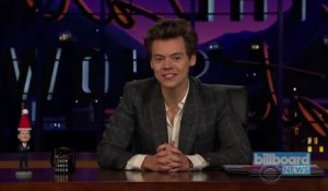 Harry Styles Steps In for James Corden on the 'Late Late Show' | Billboard News