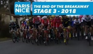 The end of the breakaway for Fabien Grellier - Étape 3 / Stage 3 - Paris-Nice 2018
