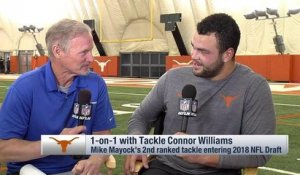 Connor Williams explains what he wanted to show scouts at his pro day
