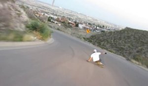 Accident spectaculaire de longboard