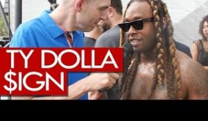 Ty Dolla $ign backstage at Wireless