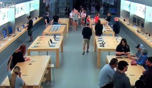 4 voleurs dévalisent un Apple store