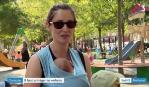 Canicule : attention aux enfants