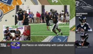 Kurt Warner asks Joe Flacco about QB battle with Lamar Jackson