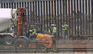 USA/Mexique: construction d'une portion du mur à la frontière