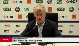 Equipe de France - Deschamps donne son point de vue sur le match de Thauvin et Dembélé