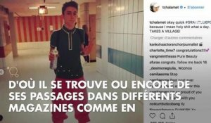 PHOTOS. On a stalké le compte Instagram de Timothée Chalamet