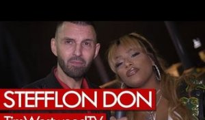 Stefflon Don on Lil Kim, Tory Lanez, QC, backstage at Krept & Konan show. Westwood