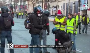 """Gilets jaunes"" : fouilles et interpellations massives à Paris"