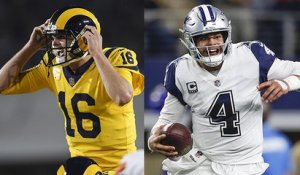 Which QB will be under more pressure - Goff or Prescott?
