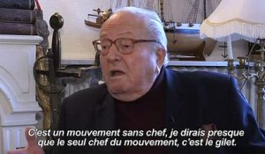"""Gilets jaunes"": Jean-Marie Le Pen salue un ""grand mouvement"""