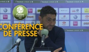 Conférence de presse Grenoble Foot 38 - Havre AC (0-0) : Philippe  HINSCHBERGER (GF38) - Oswald TANCHOT (HAC) - 2018/2019