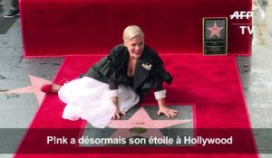 "P!nk dévoile son étoile à Hollywood et attend ""un Grammy en alu"""