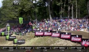 Clement Desalle vs Tim Gajser battle for third - MXGP of Patagonia Argentina 2019