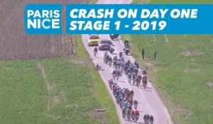 Crash on day one - Étape 1 / Stage 1 - Paris-Nice 2019