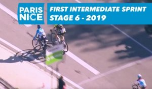 Premier sprint intermediaire / First intermediate sprint - Étape 6 / Stage 6 - Paris-Nice 2019