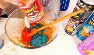 Don't Choose the Wrong Pringles Slime Challenge ! - Comment faire du Slime avec des Pringles