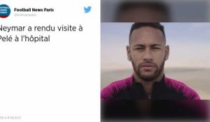 Football : Neymar au chevet de Pelé