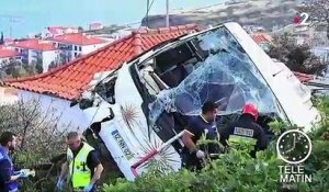 Portugal : 29 morts dans un accident de car à Madère