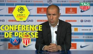 Conférence de presse Paris Saint-Germain - AS Monaco (3-1) : Thomas TUCHEL (PARIS) - Leonardo JARDIM (ASM) / 2018-19