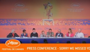 SORRY WE MISSED YOU - Press conference - Cannes 2019 - EV