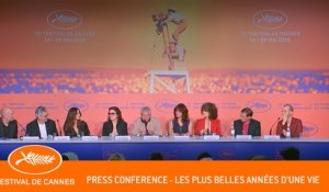 LES PLUS BELLES ANNEES DUNE VIE - Press conference - Cannes 2019 - EV