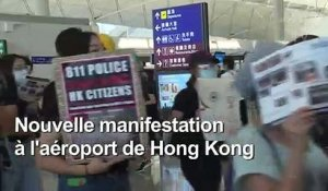 Hong Kong: nouvelle manifestation à l'aéroport international