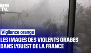 Vigilance orange: les images des violents orages