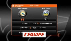 Le Real Madrid s'impose face à l'Alba Berlin - Basket - Euroligue (H)