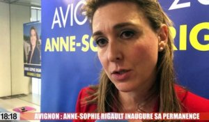 Avignon : Anne-sophie Rigault inaugure sa permanence