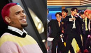 Chris Brown Shows Off His New Face Tattoo, BTS Taking Over 'The Tonight Show' & More | Billboard News