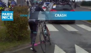 Paris-Nice 2020 - Étape 3 / Stage 3 - Crash