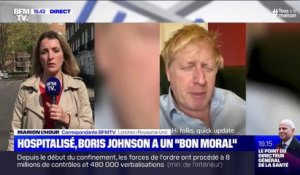 "Virus: hospitalisé, Boris Johnson dit avoir un ""bon moral"""