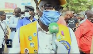 ORTM / Covid 19 - Remise de masques aux conducteurs de la Sotrama par le Lions Club International Bamako
