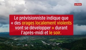 Météo-France place 9 départements en vigilance orange « orages »