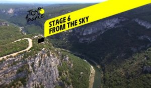 Tour de France 2020 - Étape 6 vue du ciel / Stage 6 from the sky : Le Teil - Mont Aigoual