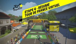 Tour de France Virtuel 2020 - Etape 4 - Résumé