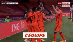 Le but de Pays-Bas - Pologne - Foot - Ligue des nations