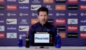 "10e j. - Simeone : ""J'ai beaucoup d'affection pour Griezmann"""