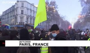 "France : incidents lors des manifestations contre la loi ""Sécurité globale"""