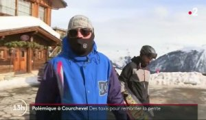 Courchevel : une piste de ski accessible en voiture