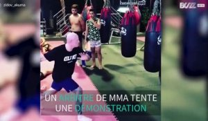 Un arbitre de MMA se ridiculise en un mouvement
