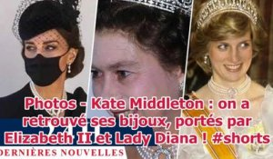 Photos - Kate Middleton : on a retrouvé ses bijoux, portés par Elizabeth II et Lady Diana ! #shorts