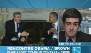 Obama et Brown: front commun contre la crise