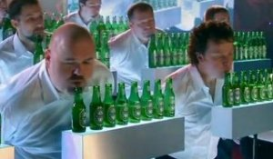 "Pub : Heineken parodie ""Incroyable talent"""