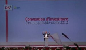 Discours de François Hollande à la convention d'investiture
