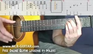 "Tab ""Shape Of My Heart"" - Cours Malero-Guitare.fr"