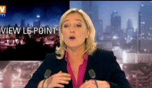 BFMTV 2012 : l'interview Le Point, Marine Le Pen